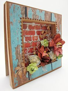 Shadow Box Card for Guest Designer Manor House Creations and using base coat paper from KaiserCraft