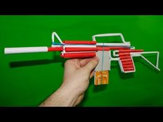 How to make a Paper M4 Assault Rifle that Shoots - YouTube