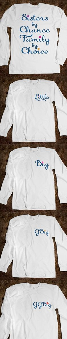 Sisters By Chance Family By Choice - Big Sis Little Sis reveal Long Sleeve Tee - Little, Big, GBig, GGBig - CLICK HERE to purchase :) Buy 1 or 100!