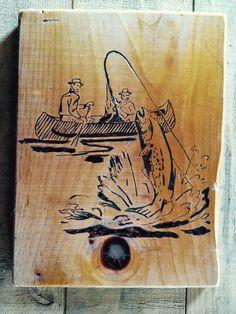 Wood burn fishing