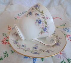 Vintage Bone China Tea Cup and Saucer Duo by PrettyVintageHome