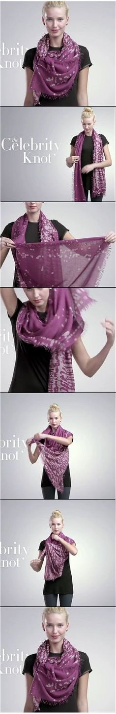 Nordstrom Celebrity Knot Scarf Tutorial You Tube