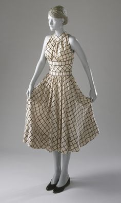 Woman's Dress  Claire McCardell (United States, 1905-1958)  United States, circa 1954  Costumes; principal attire (entire body)  Cotton