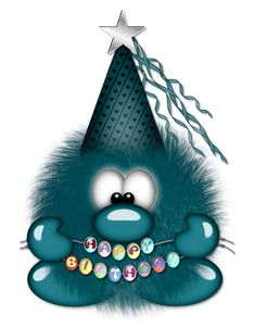 tube trop mimi j adore - Page 10 Happy Birthday Messages, Happy Birthday Images, Birthday Pictures, Birthday Quotes, Birthday Greetings, Birthday Cards, Dulceros Halloween, Funny Monsters, Blue Nose Friends