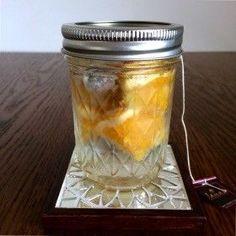 紅茶とオレンジのフレーバーウォーター