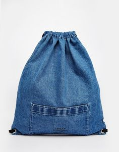 Image 1 of Cheap Monday Denim Drawstring Bag