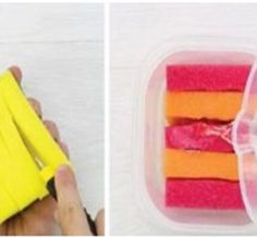 ¡Limpia tu barbacoa! ¡Será fácil de lograr! Basta con adaptar la esponja para poder hacerla pasar a la superficie. Usando una línea exacta, corte las líneas verticales y horizontales en la superficie del utensilio. De esta manera puede tener una esponja especial para sus parrillas. Súper efectivo! ¡Economiza tu suavizador! Puede ahorrar sus gastos excesivos y darle sabor a su ropa para que sea suave y maloliente. Solo necesitará un recipiente de plástico, cinco esponjas y su suavizante de…