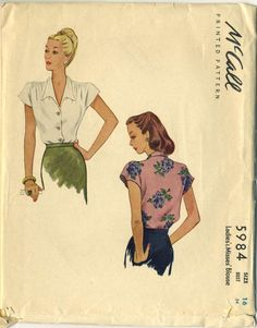 McCall Pattern 5984 -- Dated 1943