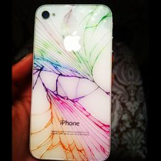 sharpie + cracked iPhone = THIS!