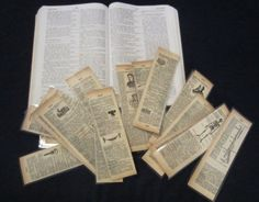Are you looking for ideas on what to make with your vintage book pages like me? Well, these bookmarks are fun, slightly ironic, and educational. The idea of making bookmarks out of recycled book pages