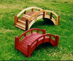 Small Garden Bridges | Create pretended babbling brook or pond underneath with a gracefully ...