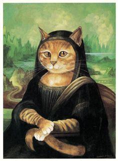 Livro reproduz gatos nos mais famosos quadros do mundo