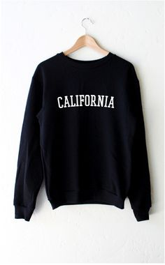 "- Description - Size Guide Details: Oversized, unisex fit crew neck fleece sweatshirt in black with print featuring 'California' by NYCT clothing. 50% Cotton, 50% Polyester. Made in USA. Sizing: 40"" /"