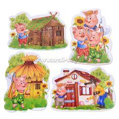 "Пазлы мягкие ""Baby puzzle. Сказки"" Три поросенка - Vladi Toys (Украина) оптом | «Урал – Тойс»"