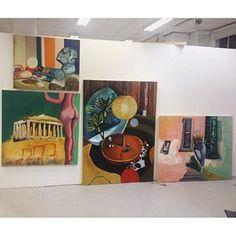 Missing my old studio in England #painting#paintings#art#artist#artwork#artoftheday#insta#instaart#contemporaryart#contemporary#surreal#surrealart#abstract#abstractart#modern#modernart#interiors#ibterior#design#retro#vintage#uk