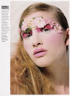 Part of a beauty editorial in Para Ti Argentina photographed by Fernando Venegas. This fantasy makeup look is titles Feminino y Romantico which literally means Feminine and Romantic. Lots of…