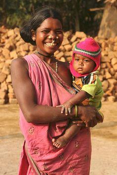 Rana tribal people and Kumbhar people at Kumbharguda village.