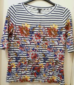 jcrew tshirt stripes and floral