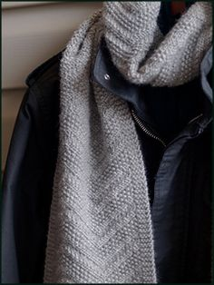 This would make a great gift for a man. >> Beckenham Scarf knit in Valley Yarns Amherst, Ravelry download pattern #knitting