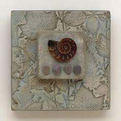 Arte de la pared mixta, cerámica ensamblaje con pájaro, decoración del hogar, inspirado en la naturaleza