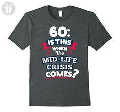 Mens Funny 60th Birthday Gift for Men T-Shirt for 60th Birthday Small Dark Heather - Birthday shirts (*Amazon Partner-Link)