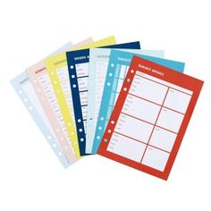 STUDY PLANNER REFILL LARGE: CUTE