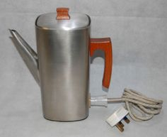 Back in stock! Vintage 1970s Electric Russell Hobbs Coffee Percolator Brushed Stainless Steel