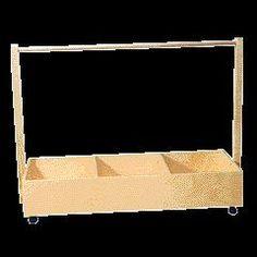 Furniture & Storage - DRESS UP TROLLEY PINE | Play Safe Kids