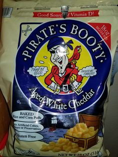 I don't normally eat booty but this 'Aged White Cheddar Pirate's Booty' is delicious! #GlutenFreeBooty #Costco #ThatNameThough #ImInTears #PiratesBootyIsLoyal
