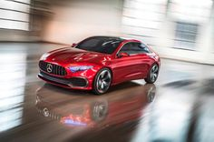 The Mercedes-Benz Concept A Sedan is a more complete look at the Aesthetics A Concept