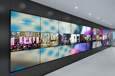 Video Wall Design Videowall Of Ultra High Resolution To Show The Business Career Concept Design Hall, Wall Design, Signage Design, Digital Signage, Digital Wall, Environmental Graphics, Environmental Design, Sharjah, Digital Technology