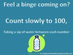 Binge eating is a sudden urge and it's a strong one. You need a strong plan to fight it. Don't wait until you're about to dive into a plate of goodies before you have your plan in place. Once a binge is started, it is ten times harder to stop, so avoid the triggers, avoid the first compulsive bite, and avoid the binge. http://skinnyfiberlady.sbc90.com