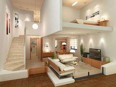 15 Amazing Interior Design Ideas for Modern Loft www.futuristarchi… 15 Amazing Interior Design Ideas for Modern Loft www. Studio Apartment Layout, Studio Layout, Deco Studio, Appartement Design, Loft Interiors, Loft House, Loft Design, Attic Design, Modern Design