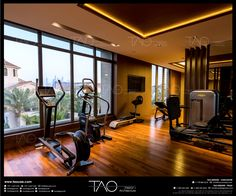 Private villa gym in