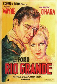 1946 western movie posters | Rio Grande - 1950