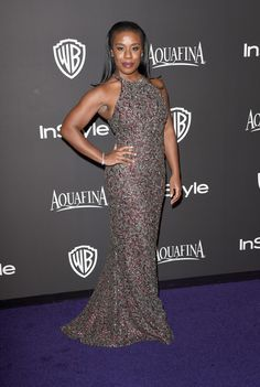 Actress Uzo Aduba attends the 2015 InStyle And Warner Bros. 72nd Annual Golden Globe Awards Post-Party at The Beverly Hilton Hotel on January 11, 2015 in Beverly Hills, California.