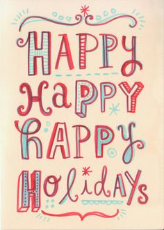 Hand lettered Christmas cards by Linzie Hunter, via Behance Christmas Time Is Here, Merry Little Christmas, Christmas Love, All Things Christmas, Winter Christmas, Vintage Christmas, Bohemian Christmas, Christmas Paper, Christmas Colors