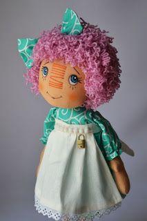 Текстильные куклы Лилии.: Полинка