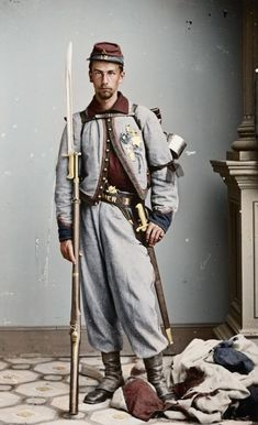 Private Francis Brownell, received the first Medal of Honor awarded during the American #Civil #War (colorized photo).  #wartime