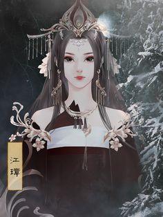 Beautiful Fantasy Art, Beautiful Drawings, Anime Kimono, Art Girl, Anime Warrior, Ancient Chinese Art, Art, Animated Drawings, Fantasy Girl