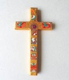 Cross Decorative Wall cross by DulcetWhimsy on Etsy