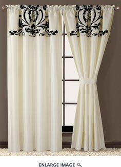 22 Best Black and white curtains images | White curtains, White ...