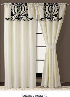 Salma Black And White Curtain Set
