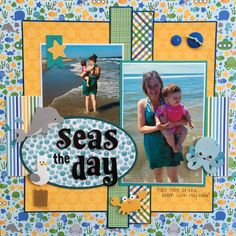 "Doodlebug ""Anchors Aweigh"" Page Kit & Layouts Reveal Beach Scrapbook Layouts, Vacation Scrapbook, Scrapbook Layout Sketches, Kids Scrapbook, Scrapbooking Layouts, Birthday Scrapbook Pages, Paper Bag Scrapbook, Scrapbook Cards, Photo Layouts"