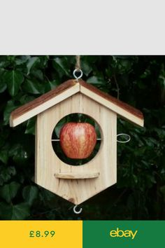 Encourage birds to your garden with our bird feeders, nesters and bird baths. Pretty bird feeders and baths which will give hours of pleasure. Suet Bird Feeder, Bird Feeder Plans, Bird House Feeder, Hanging Bird Feeders, Homemade Bird Houses, Homemade Bird Feeders, Wooden Bird Houses, Bird Houses Diy, Wood Projects