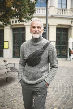 Masters Men With Grey Hair, Worlds Of Fun, Masters, Male Models, Men Sweater, Handsome, Turtle Neck, Mens Fashion, Sweaters