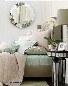 The easiest, quickest way to change the look of your bedroom? Switch up your duvet cover and try out a fun new pattern or add a fresh pop of color. It's just an added bonus that they're so easy to clean. Dream Bedroom, Home Bedroom, Bedroom Decor, Bedroom Ideas, Master Bedroom, Boudoir, Guest Bedrooms, Bedroom Styles, My New Room