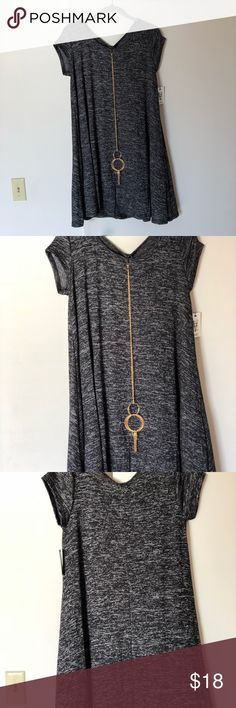 "NWT-Women-Summer-Short-Sleeve-Dress-Grey size 12 NWT Women Summer Casual Short Sleeve Dress size 12 Color : Grey Pit to pit 19.5"" length 31"" Dresses Mini"