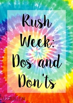 Are you nervous about rush week? Check out my post for some tips from someone who has gone through it!