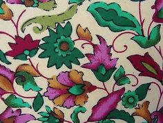 """Floral Print Cotton Fabric 43"""" Wd Crafting Apparel Drape Dress By The Yard India"""